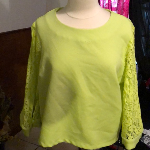For Her Nyc Tops Ladies Lime Green Shirt Poshmark
